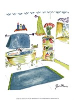Girly Bathroom I Fine Art Print