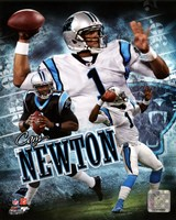 Cam Newton 2011 Portrait Plus Framed Print
