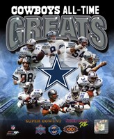 Dallas Cowboys All Time Greats Composite Framed Print