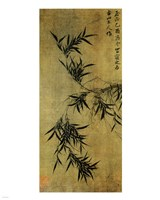 Gu An Ink Bamboo Framed Print