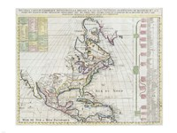 1720 Chatelain Map of North America, 1720 - various sizes, FulcrumGallery.com brand