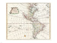 1747 Bowen Map of North America and South America, 1747 - various sizes, FulcrumGallery.com brand