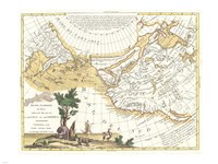 1776 Zatta Map of California and the Western Parts of North America, 1776 - various sizes, FulcrumGallery.com brand