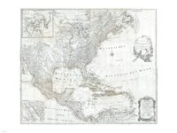1788 Schraembl - Pownall Map of North America the West Indies, 1788 - various sizes