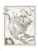 1809 Tardieu Map of North America, 1809 - various sizes