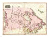 1818 Pinkerton Map of British North America, 1818 - various sizes