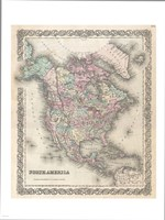 1855 Colton Map of North America, 1855 - various sizes