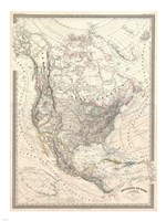 1857 Dufour Map of North America, 1857 - various sizes
