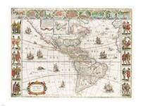Americae nova Tabula - Map of North and South America - various sizes