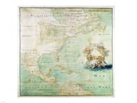Claude Bernou Carte de lAmerique septentrionale - various sizes