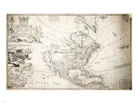 John Lord Sommers Map of North America - various sizes