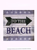 Beach Signs VII Fine Art Print