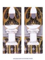 "2up Shabby Chich Bath II by Vision Studio - 10"" x 13"" - $10.49"