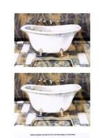 "2up Shabby Chic bath III by Vision Studio - 10"" x 13"" - $10.49"