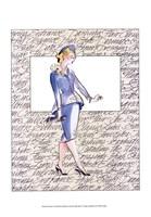 """50's Fashion V by Elissa Della-Piana - 13"""" x 19"""", FulcrumGallery.com brand"""