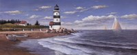 "Lighthouse by Daylight by T.C. Chiu - 20"" x 8"""
