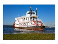 Paddle Steamer on Lakes Bay, Atlantic City, New Jersey, USA Fine Art Print