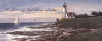 Lighthouse - Dawn (verse) Fine Art Print
