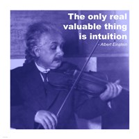 Einstein Intuition Quote - various sizes