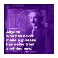 Einstein Try Something New Quote Fine Art Print