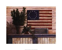 Old Flag with Ivy Fine Art Print