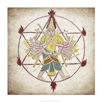 Chakra Ayudhapurusha Fine Art Print