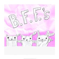 BFF Cats Framed Print