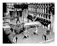Concrete workers on the Hoover dam Fine Art Print