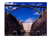 Hoover Dam with Bypass from Reclamation Framed Print