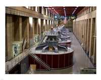 Hoover Dam's generators Fine Art Print