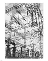 Photograph Looking Up at Wires of the Boulder Dam Power Units, 1941 Fine Art Print
