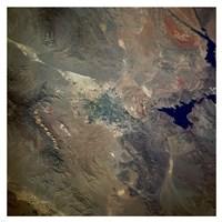 Las Vegas viewed from space Fine Art Print