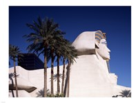 Dramatic Sphynx at the Luxor Hotel Casino in Las Vegas Excalibur Hotel Turets, Las Vegas, Nevada Fine Art Print
