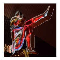 Glitter Girl neon sign at the Freemont Street Experience Fine Art Print