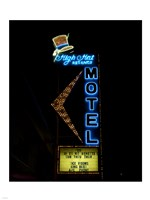 High Hat historic motel, Las Vegas, Nevada Fine Art Print