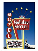 Holiday Motel Sign, Las Vegas, Nevada Fine Art Print