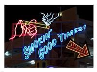 Old Motels and Historic Neon Art, Las Vegas Framed Print