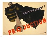 Production poster WW1 Fine Art Print
