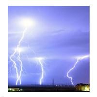 Lightning over Oradea Romania - various sizes