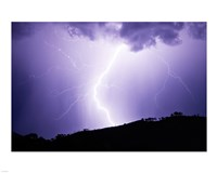 Lightning Strike 2007 Framed Print