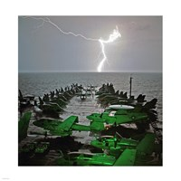 USS Lincoln Lightning Fine Art Print