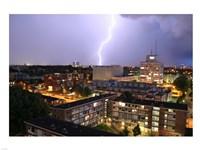Utrecht-Oost Tijdens Onweer Vanaf Framed Print