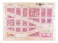 1909 map of Downtown Washington, D.C. Fine Art Print