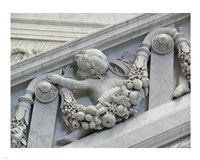 Library of congress architecture detail child turned Fine Art Print