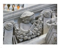Library of congress architecture detail child reading Fine Art Print