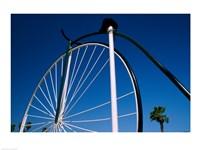 Close-up of a Penny farthing bicycle, Santa Barbara, California, USA Fine Art Print