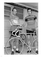Joop Zoetemelk and Eddy Merckx 1973 Fine Art Print