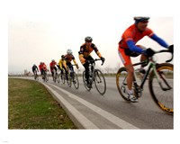 Military Cyclists in pace line Fine Art Print