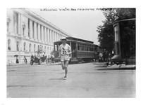 Elphinstone Winning Washington Marathon Fine Art Print