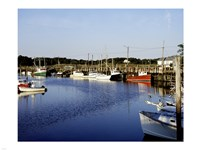 Orleans harbor, Cape Cod, Massachusetts Framed Print